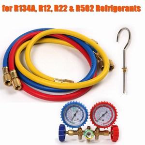 Hot Car Air Conditioning Refrigeration Kit Set for R134A R12 R22 R502 Auto Refrigerant H/L Quick Coupler Manifold Gauge Tool Set
