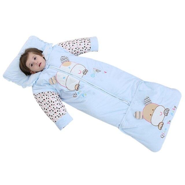 Kids Sleeping Sack Detachable Sleeve Infant Toddler Bag New Style Zipper Boy Sleep