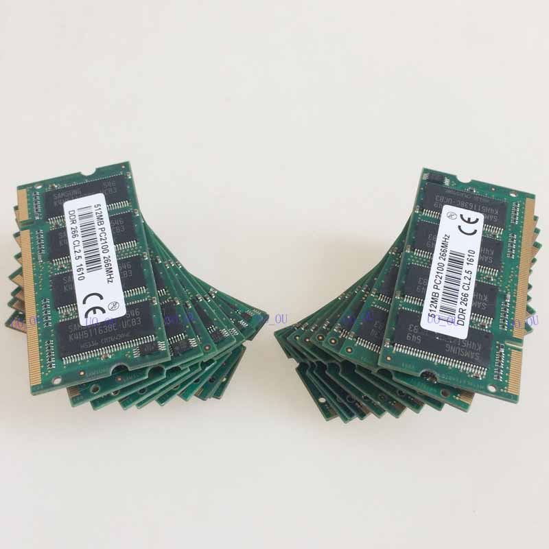 20PCS 20X512MB PC2100 DDR266 200PIN SODIMM 266mhz Laptop Memory cl2.5 SO-DIMM Notebook RAM NEW Free Shipping 2 гб ddr dimm 200 266 мгц