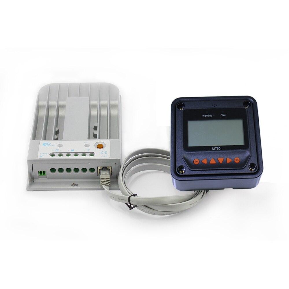 2215BN traceur MPPT LCD contrôleur solaire 20A régulateur de Charge solaire 150 V panneau solaire entrée compteur à distance LCD MT50 EPsolar