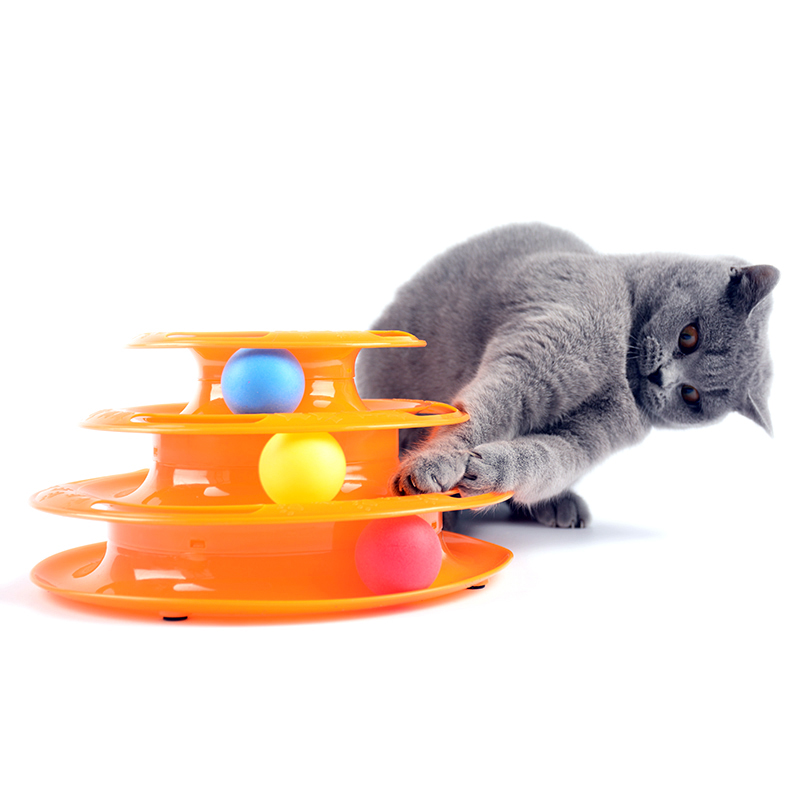 Three Layers Intelligence Kitten Toys Crazy Amusement Petstages Tower Of Tracks Cat Toy Creative Products For Cats Toys For Cats