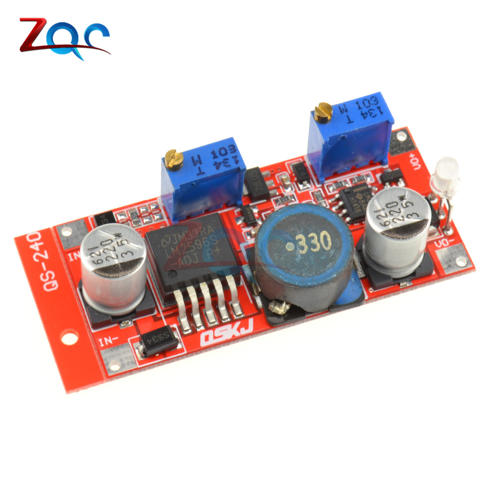DC DC 5-35V To 1.25-30V 3A Step Down Buck Power Supply Module LM2596 Constant Current Adjustable Step-Down Voltage Regulator 10a dc power adjustable step down dc constant voltage constant current power supply module lcd screen
