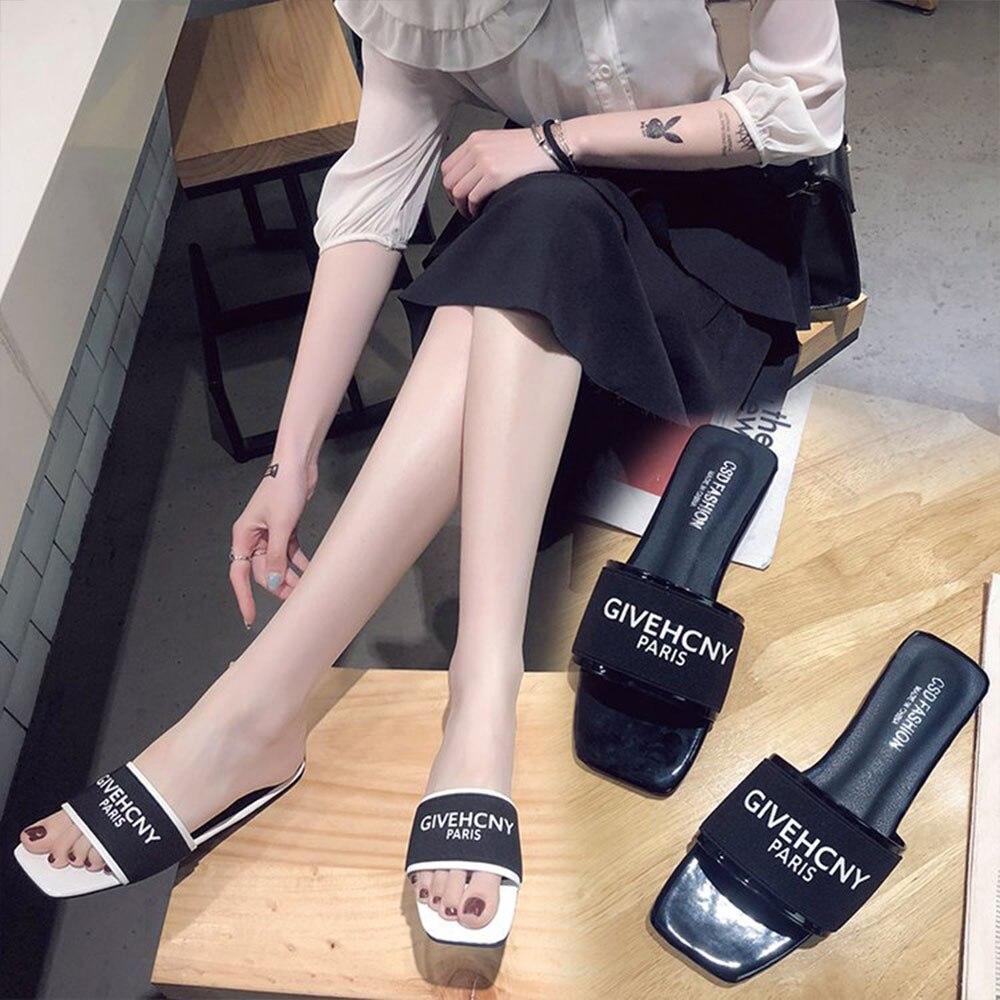 buy online 942d5 97fd5 2018 Zapatillas De Cartas Mujer Marca Sandalias Planas 6HxqS1wg