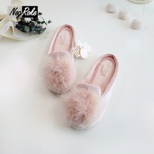 Ice Cotton mirco velvet shoes woman slippers women Slippers fenty slides pantufa rubber shoes home slippers