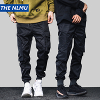 Hip Hop Pencil Pants Men Cargo Pants Streetwear Men Trousers Military Tactics 2019 Spring Mens Black Pant HD063