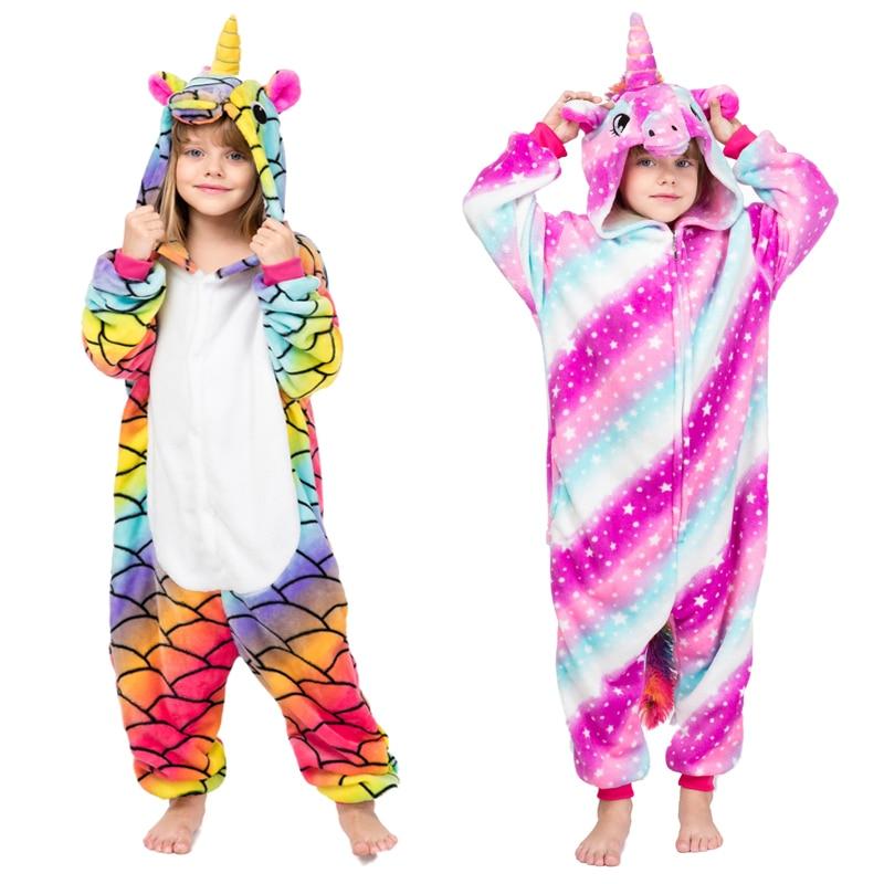 2019 New Children Animal unicorn pijama Kigurumi for girl children Costume pajamas combinaison pyjama enfant