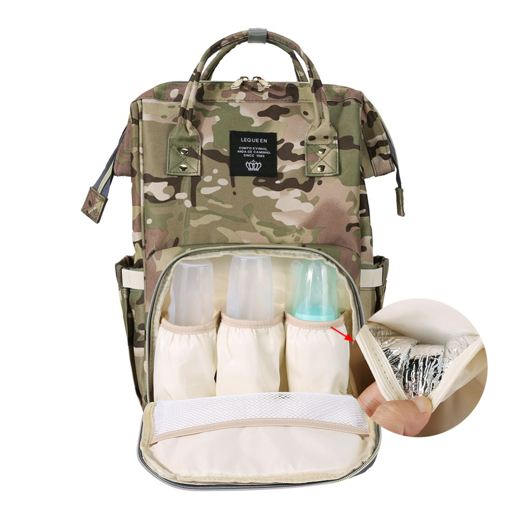 Waterproof Camo Mummy Bags Nylon Baby Diaper Bag Large Capacity Backpack For Mom Baby Care Maternity Nappy Bags Nursing Handbags