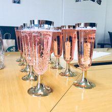 5,5 унций пластиковые флейты для шампанского, Прозрачные Жесткие одноразовые вечерние и свадебные чашки Премиум причудливые флейты для шампанского