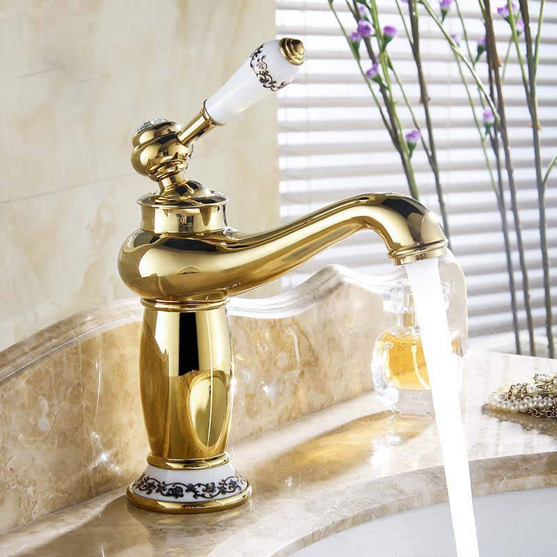 Bathroom Basin Faucet Antique bronze finish Brass Sink ...