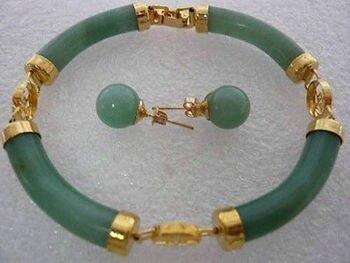 Bracelet Jade Et Or