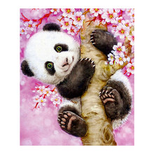 Panda Floral Tree Diamond Painting animal cartoon Round Full Drill 5D Nouveaute DIY Mosaic Embroidery Cross Stitch home decor