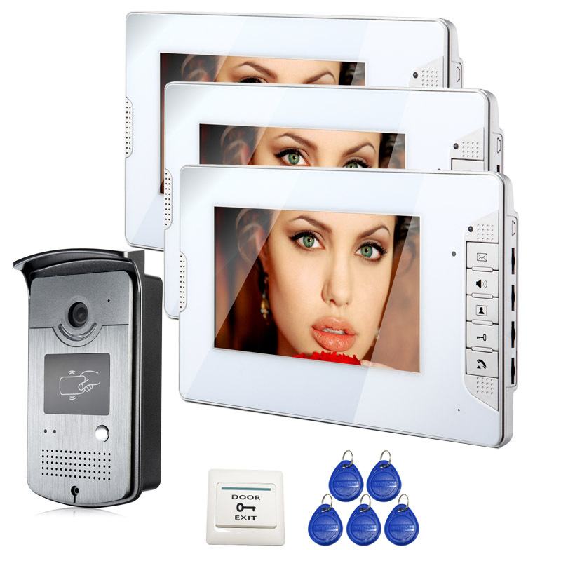 FREE SHIPPING Wired 7 inch Color Video Intercom Home font b Door b font Phone System