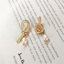 Delicate earrings ms pearl  earrings abnormity eardrop of asymmetric natural pearl earrings Earrings wholesale pair of delicate pentagram earrings for men