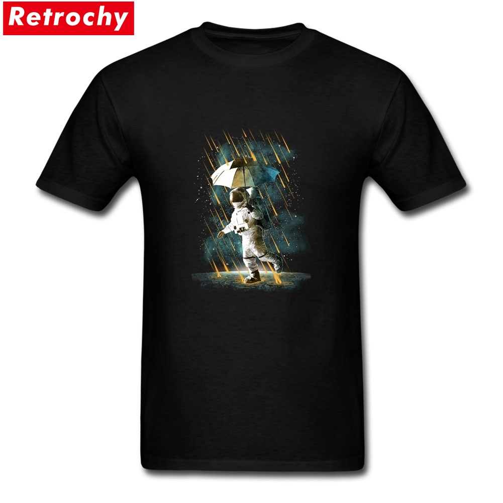 Fashion METEOR SHOWER IN SPACE V2 Tee Mens Short Sleeved Cotton Spandex Custom Design Printing Tees for Teen Bosy