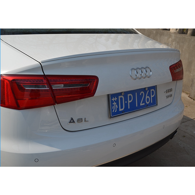 <font><b>A6</b></font> C7 Modified S6 Style ABS Plastic Unpainted Primer Rear Trunk Lip Spoiler for <font><b>Audi</b></font> <font><b>A6</b></font> C7 2012 2013 <font><b>2014</b></font> 2015 image