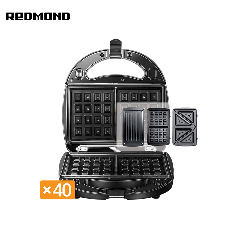 Multibaker Redmond RMB-M6011 Waffle maker electric Sandwich Box bread maker redmond rbm m1911 free shipping bakery machine full automatic multi function zipper