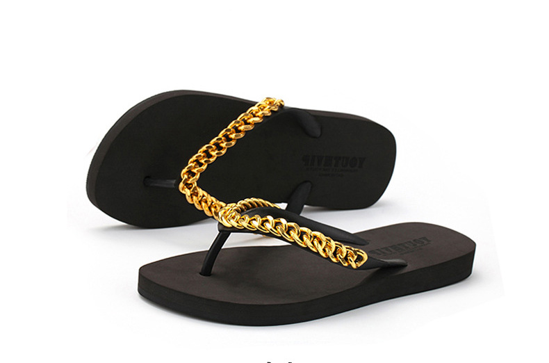 74eab3c9918 DreamShining Summer Women Shoes Sandals Simple Metal Design Slippers Soft Leather  Ladies Flip Flops Casual Flat Sandalias-in Slippers from Shoes on ...