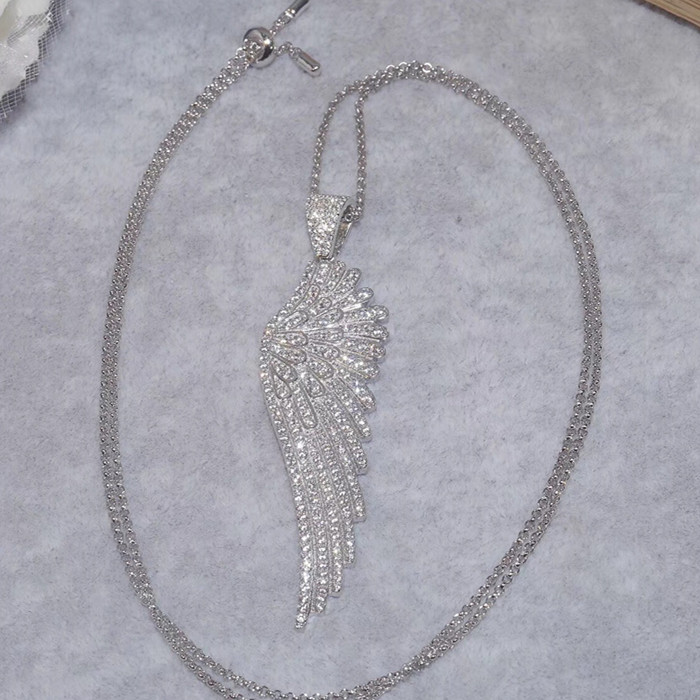 Designer mode 925 bijoux en argent Sterling 3A cubique zircone parti collier réglable