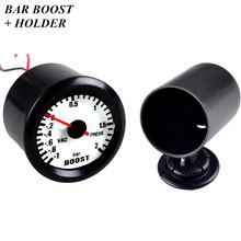 2 52mm Black Car Universal Pointer Bar Turbo Boost Gauge Meter Dials LED + Pod  [Free Shipping]
