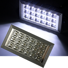 цена на 18LED Car Roof Dome Light White Caravan Interior Ceiling Lamp for 12V Auto Van Vehicle Truck