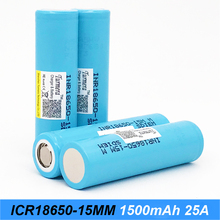 Turmera original battery 18650 15M inr18650-15M 1500mah 25A for power tools screwdriver battery and E-cig battery  j28