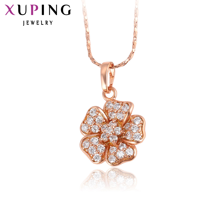 11.11 Xuping Flower Pendant Charming Design Flower Pendants for Women Gold Color Plated Jewelry Party Thanksgiving Gift 30820 цена