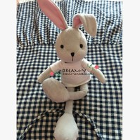 Il trasporto libero 40 cm Carino piccolo coniglio bianco Dell'orecchio di coniglio modellazione può essere immessi sul arti bambola peluche regalo baby doll