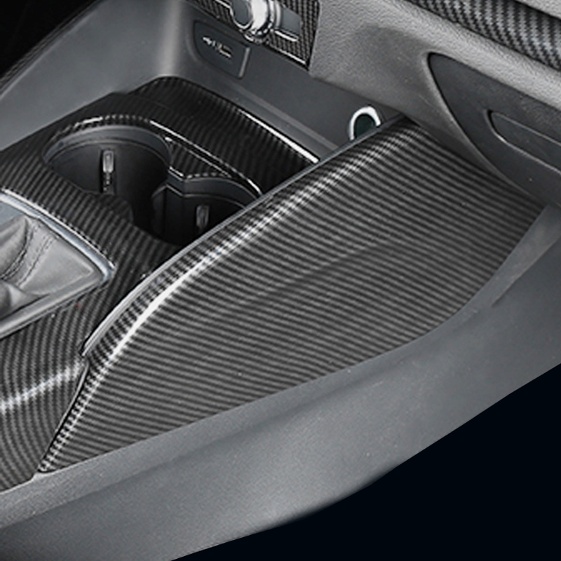 ABS carbon fiber center console both side water cup panel cover trim sticker car accessories for