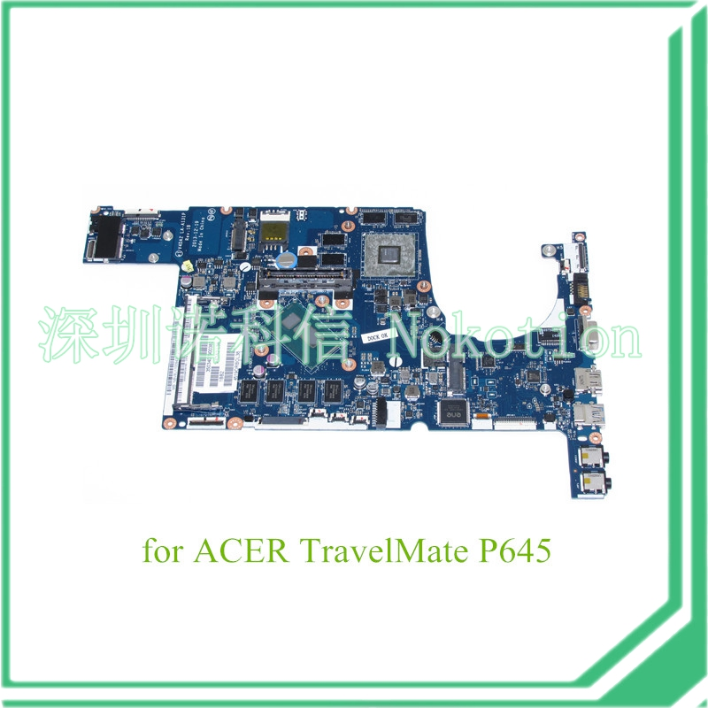NOKOTION V4DA2 LA-A131P Mainboard For acer Travelmate P645 laptop motherboard I7-4510U + AMD Radeon HD 8750M