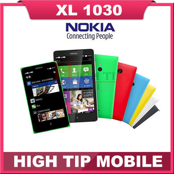 """Dual tarjetas sim nokia xl 1030 teléfono celular dual core 5.0 """"pulgadas 5MP Cámara 3G WCDMA Teléfono Android Reformado Envío Libre"""