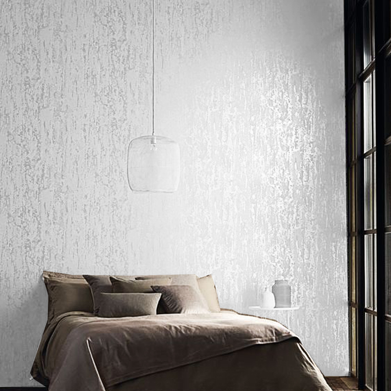 Image 2 - White,Brown Abstract Metallic Embossed Plain 3D Textured Wallpaper Luxury Thick Wall Paper For Bedroom Living Room Home Decor-in Wallpapers from Home Improvement