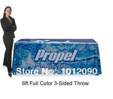 6Ft Tradeshow Table Throw 6ft Open Back Table Cover Printed Full Color Tablecloth
