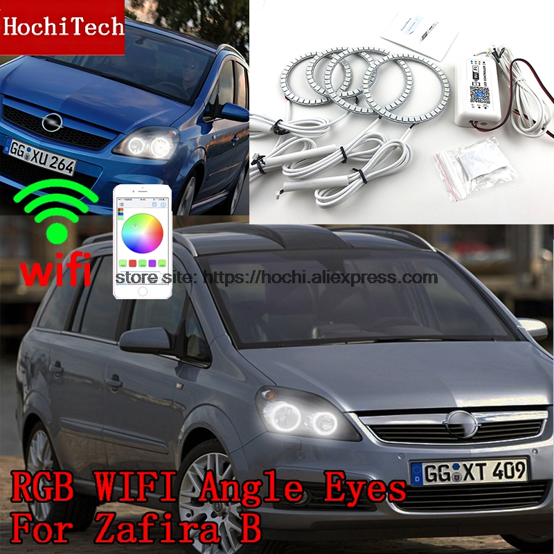 HochiTech Excellent RGB Multi-Color halo rings kit car styling for Opel Zafira B 2005-2014 angel eyes wifi remote control hochitech excellent rgb multi color halo rings kit car styling for volkswagen vw golf 5 mk5 03 09 angel eyes wifi remote control