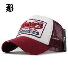 [FLB] Summer Baseball Cap Embroidery Mesh Cap Hats For Men Women Gorras Hombre hats Casual Hip Hop Caps Dad Casquette F207(China)