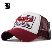 01c3fc742cdb5  FLB  Summer Baseball Cap Embroidery Mesh Cap Hats For Men Women Gorras  Hombre hats Casual Hip Hop Caps Dad Casquette F207