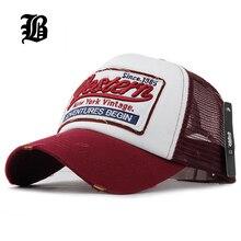 FLB Summer Baseball Cap Embroidery Mesh Cap Hats For Men Women Gorras Hombre hats Casual