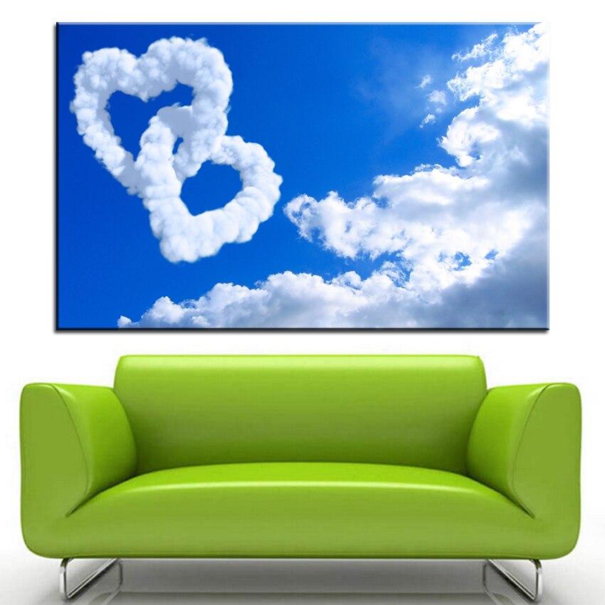 ̿̿̿(•̪ )Impresión de gran tamaño pintura al óleo en forma de corazón ...