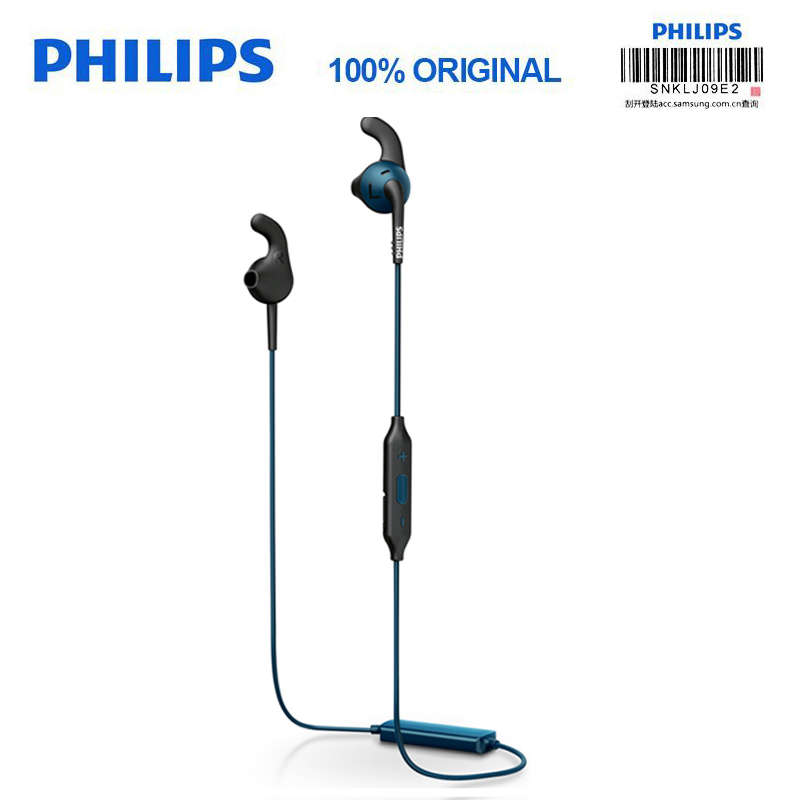Philips SHQ6500 original Bluetooth wireless headset sports headset with microphone mobile phone and music passed official test-in Bluetooth Earphones & Headphones from Consumer Electronics    1