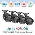 SANNCE AHD 720 P CCTV Câmeras de Segurança 4pcs1. 0MP 1280tvl ao ar livre Sistema de câmeras De Vigilância De Vídeo em CCTV com IR visão noturna