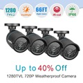 SANNCE AHD 720P CCTV Security Cameras 4pcs1.0MP 1280tvl outdoor Video Surveillance cameras in CCTV System with IR night vision