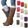 Autumn Women Fashion Warm Socks Leg Warmer Pattern Lace Socks Elastic 15cm Width Boots Socks Boot cuffs9BA144