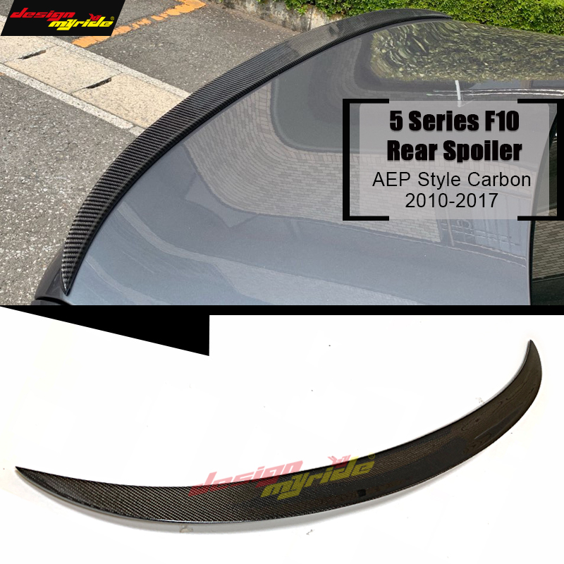 F10 Tail Spoiler M Style Carbon fiber For BMW 5 series 520i 528i 530i 535i 550i Rear Spoiler wing tail V style Decoration 10 16-in Spoilers & Wings from Automobiles & Motorcycles    1