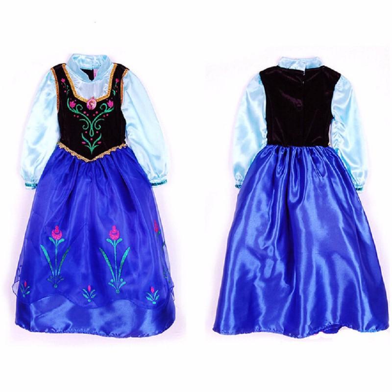 2015-top-quality-baby-toddler-girl-dress-princess-vestidos-infantis-congelados-anna-elsa-fever-dress-diamond (3)