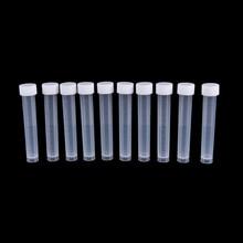 Peerless 10 шт 10 мл белые пластиковые лабораторные Замороженные пробирки флакон уплотнение крышка контейнера для Химического Эксперимента