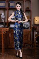 Hot Sale Sleeveless Chinese Traditional Style Women S Slim Above Ankle Qipao Drees Mandarin Collar Formal