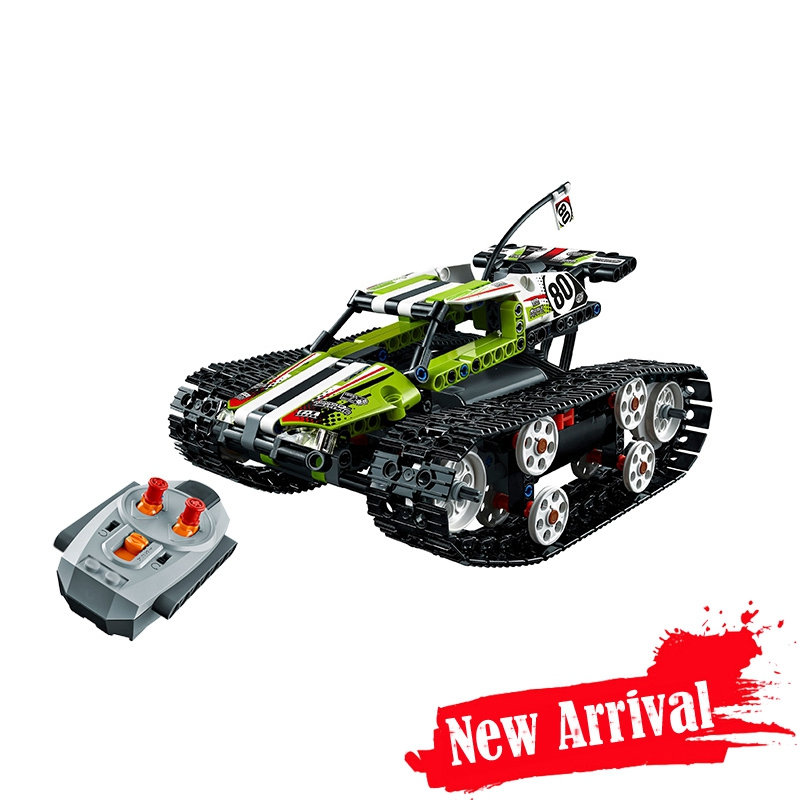 The RC Tracked Remote Control Race Car LEPIN 20033 397Pcs Technic Series Set Building Blocks Bricks Educational Toys 42065 Gifts military hummer rc tank building blocks remote control toys for boys weapon army rc car kids toy gift bricks compatible lepin