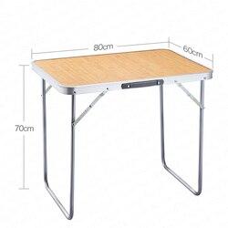 Mesa plegable para exteriores, mesa plegable para el hogar, mesa plegable sencilla portátil para acampar, Mesas Plegables Madera