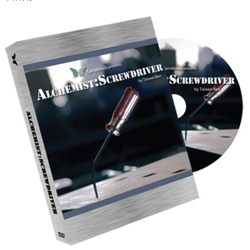 ФОТО Alchemist: Screw Driver (2 Gimmicks and DVD) - Trick - Magic Trick,accessories,mentalism,,illusion,props,gimmick,2015 New