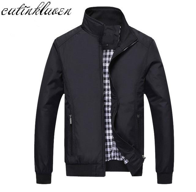 Loose מקרית האופנה Mens ספורט מעיל גברים מעיל 2017 חדשים ז 'קט Mens מעילי גברים ומעילים בתוספת M גודל-5XL