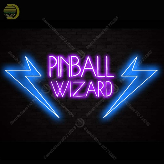 7c98b21298f8 Pinball Wizard Neon Sign Game Room Light Neon Bulbs Beer Pub Glass Tube  Advertise Iconic Sign Lamps Store Display Neon Bar Signs